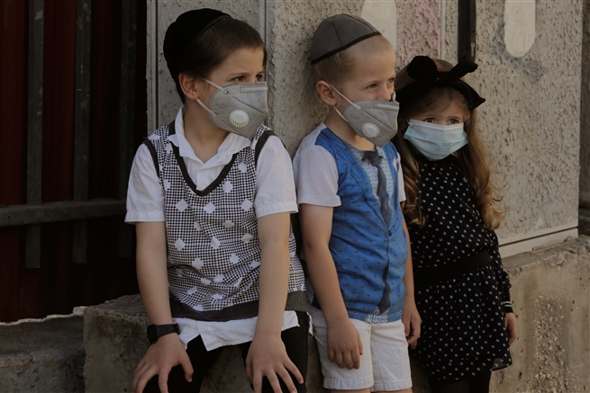Children, Romema, Jerusalem Covid 19 outbreak July 2020