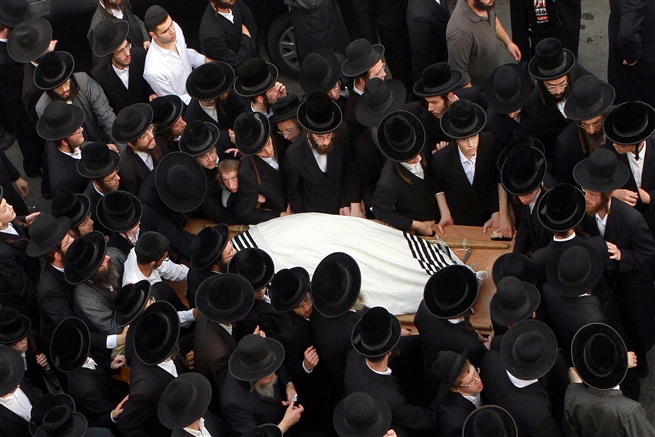 Israeli Ultra-Orthodox Rabbi Yeshayahu Krishevsky, funeral, killedby Palestinian teror attack October 15