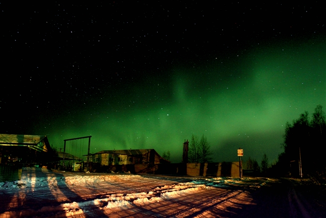 The Northern Lights, Anchorage  Alaska, November 2015